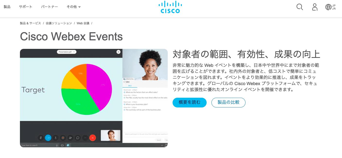 ウェビナーツール14選|ライブ配信によるナーチャリング戦術 | Senses Lab. | cisco webex events